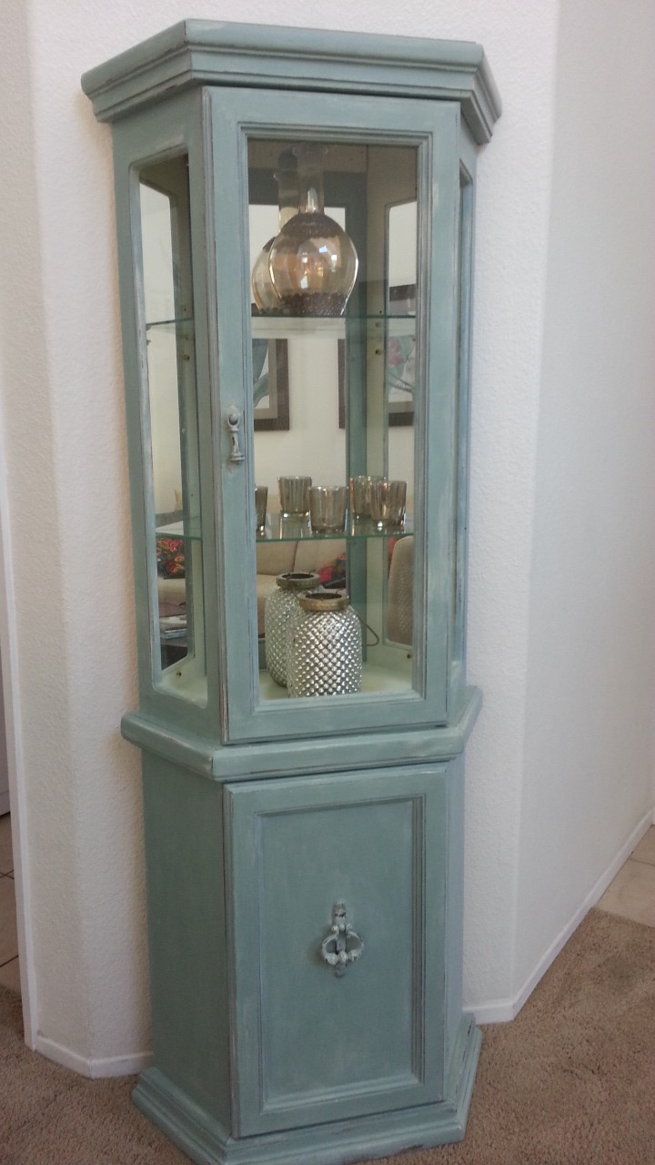 Beach Chic Curio Cabinet The Contented House